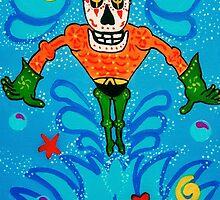 Aquaman Dia de los Muertos by Angelo M. Esquivel