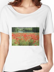 field of poppies Women's Relaxed Fit T-Shirt
