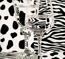 Distortion of Spots and Stripes through Glass.    by Elaine Farmer