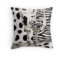 Distortion of Spots and Stripes through Glass.    Throw Pillow