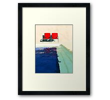 Red Deck Chairs Framed Print