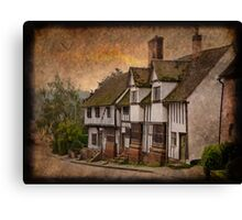 Period Suffolk Homes Canvas Print