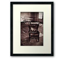 Take a seat and we'll talk Framed Print