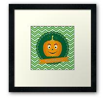Sweet pumpkin on Halloween Framed Print