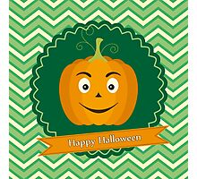 Sweet pumpkin on Halloween Photographic Print