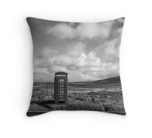 Communication Point, Outer Hebrides Throw Pillow