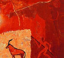 Hunting 2 - rock paintings 2001 by Marlies Odehnal