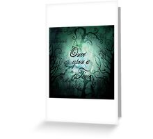 Once Upon A Time ~ Fairytale Forest Greeting Card
