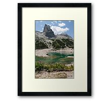 landscape of  blue lake in the mountain Framed Print