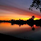 Sunset over Man Made Lake by glennc70000