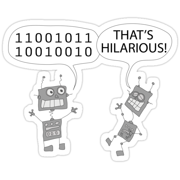Jokes in binary by martoon