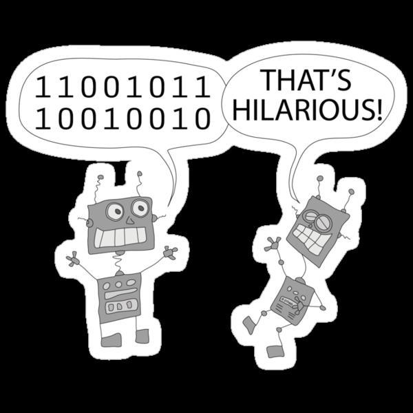 Jokes in binary by martoon