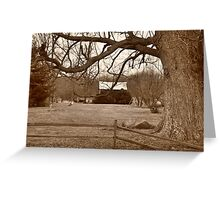 Country scenery Parker City Indiana Greeting Card