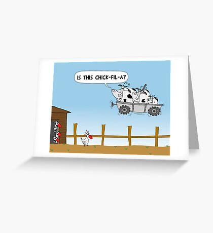 Chick-fil-A Greeting Card