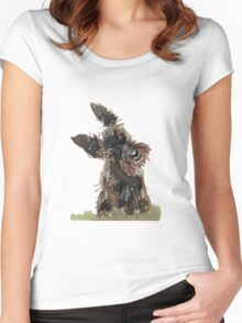 Scottie Dog Women's Fitted Scoop T-Shirt