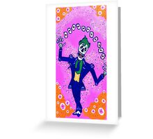Joker Day of the Dead Greeting Card