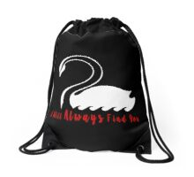 Captain Swan - I Will Always Find You - Once Upon A Time Drawstring Bag