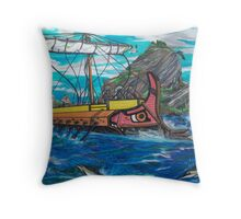 Rowing Speed Throw Pillow