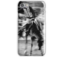 Saddled bronco riding. iPhone Case/Skin