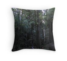 A Good Book and the Trees = Serenity Throw Pillow