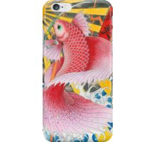 ukiyo-e betta fish  iPhone Case/Skin
