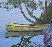 Canoes - Algonquin Park, Ontario, Canada by P. Leslie Aldridge
