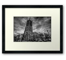 Derby Cathedral B&W Framed Print
