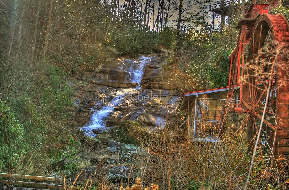 Sylvan Falls and Grist Mill, Rabun Gap, Georgia by Chelei