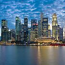 Singapore City, Financial District, Marina Bay, Sunset by Gareth Spiller