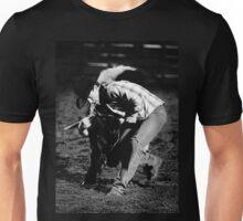 Steer wrestling. Unisex T-Shirt
