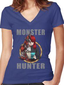 Hunter's Life (Chantal Custom) Women's Fitted V-Neck T-Shirt