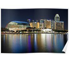 Singapore City, Esplanade Theatre, Marina Bay Poster
