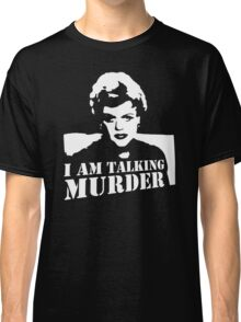 Murder She Wrote Deadly Lady stencil Classic T-Shirt