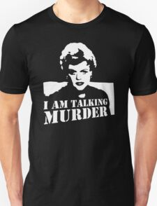 Murder She Wrote Deadly Lady stencil T-Shirt