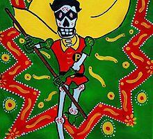 Robin Dia de los Muertos by Angelo M. Esquivel