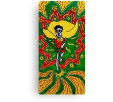 Robin Day of the Dead Canvas Print