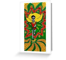 Robin Day of the Dead Greeting Card