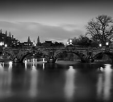 Shrewsbury's 'English Bridge'. by Paul Whittingham