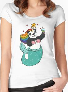 Panda of awesomeness Women's Fitted Scoop T-Shirt