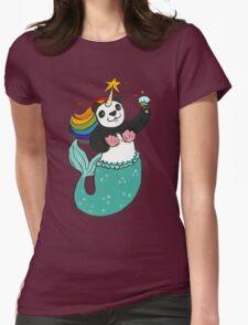 Panda of awesomeness Womens Fitted T-Shirt