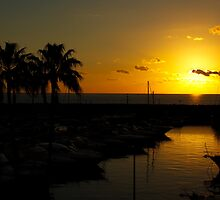 Golden Tenerife Sunset by Barry Madden