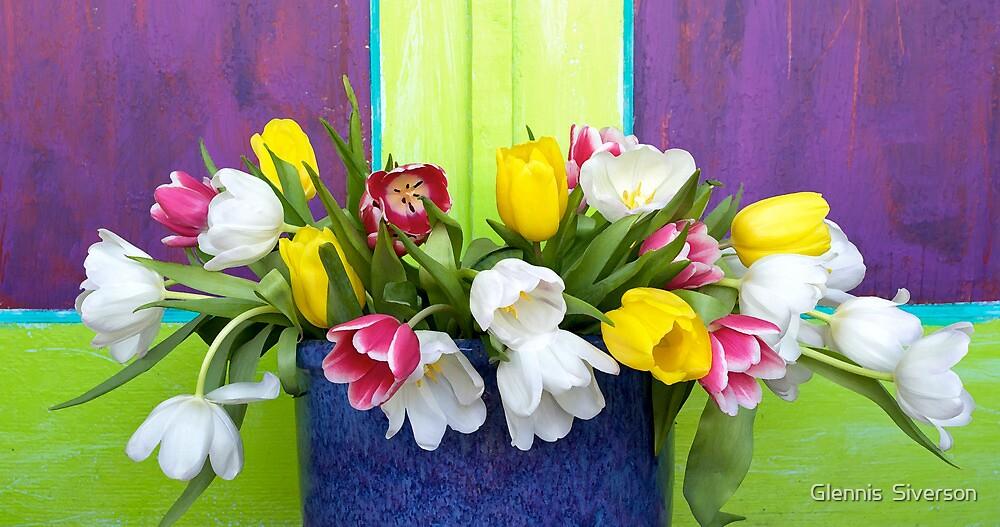 Vibrant Bouquet by Glennis  Siverson