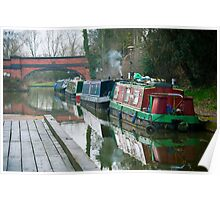 Life on the Grand Union Canal: Foxton Locks. Poster