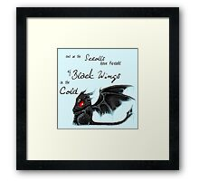 Black Wings Framed Print