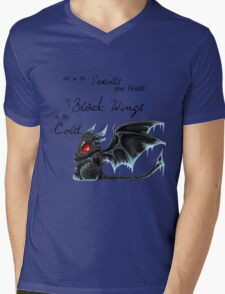 Black Wings Mens V-Neck T-Shirt