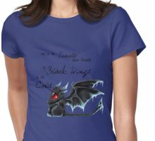 Black Wings Womens Fitted T-Shirt