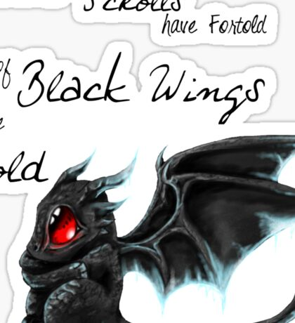 Black Wings Sticker