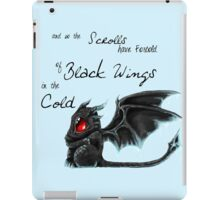 Black Wings iPad Case/Skin