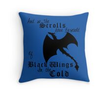 Black Wings In The Cold Throw Pillow