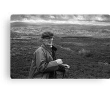 Jack 'Tycha', Tennant Farmer, Bala, North Wales Canvas Print